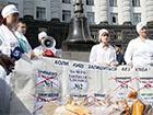 Еще одну участницу голодовки под Кабмином положили в больницу