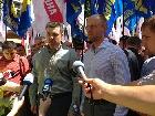 Оппозиция в Хмельницком провела акцию «Вставай, Украина»