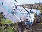 На Тернопольщине на линию электропередач упал дельтапланерист