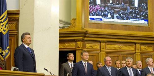 Президент в ВР подчеркнул важность принятия евроинтеграционных реформ - фото