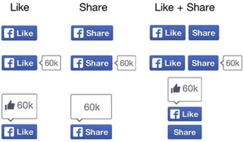 Facebook изменила дизайн кнопки «Нравится» - фото