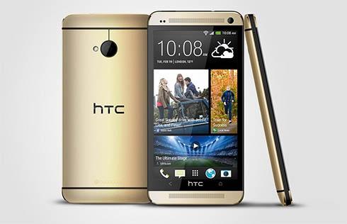 HTC выпустила золотистый смартфон One - фото