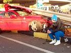 Милевский разбил свою Ferrari (фото)