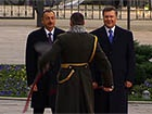Начальник почетного караула рассмешил двух президентов - Януковича и Алиева