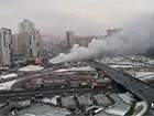 Возле метро «Позняки» горели торговые киоски (видео)