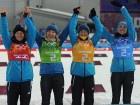 Украинские биатлонистки завоевали золото в Сочи