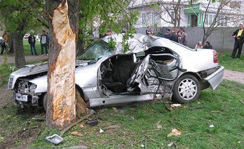 В Прилуках автомобиль врезался в дерево - 5 погибших - фото
