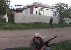 В Славянске террористы со страху стреляли друг в друга - фото