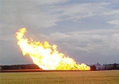 Потеряно 10 миллионов кубометров газа в результате взрыва на газопроводе на Полтавщине - фото