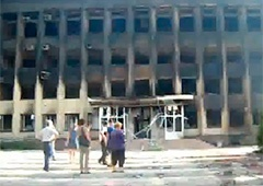 В Дзержинске практически уничтожен центр города - фото