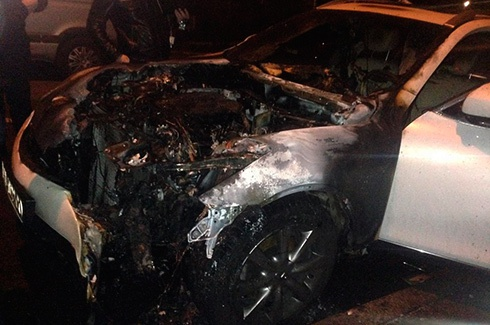 Сожгли машину пресс-секретаря Кличко Оксаны Зиновьевой - фото - фото