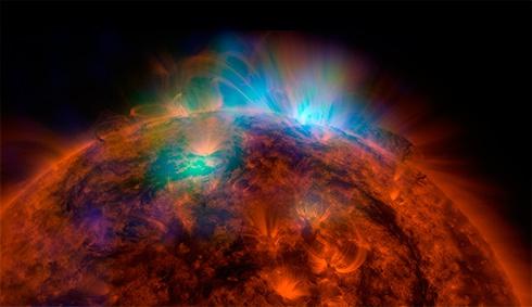 Телескоп NuSTAR показал уникальный портрет Солнца - фото