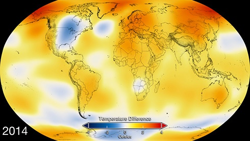 2014-ый был рекордно теплым на Земле - фото