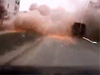 Обстрел Мариуполя на видео, снятое видеорегистратором