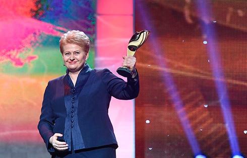 Свою награду Даля Грибаускайте посвятила украинскому народу - фото