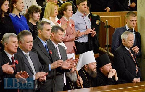 Московские попы в Верховной Раде отказались признать геройство бойцов АТО - фото