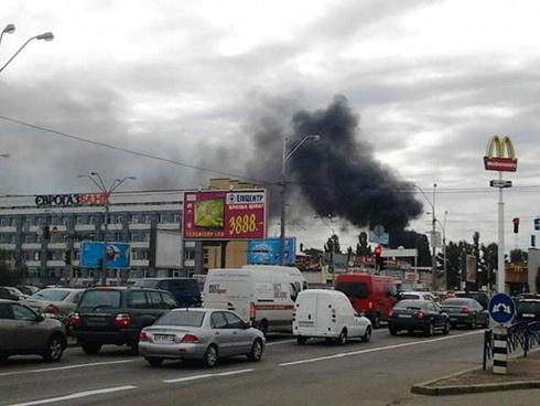 На Петровке произошел пожар - фото