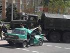 В Донецке военный грузовик раздавил легковушку с ветеранами