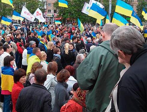 Жители Мариуполя митинговали против демилитаризации Широкино - фото