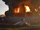 Пожар в Глевахе: Проведена пенная атака 2 резервуаров