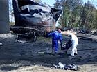 Продолжает фитилировать резервуар объемом 900 кубометров на нефтебазе в Глевахе
