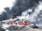 Опять пылает огонь на нефтебазе в Глевахе