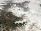 NASA показала как выглядят из космоса вулканы Камчатки