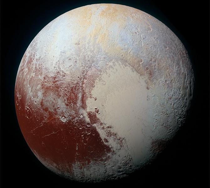 Цветное фото Плутона, сделанное аппаратом «New Horizons» - фото