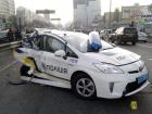 Пьяный водитель смял полмашины с патрульной полицией