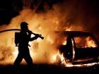 В результате столкновения в легковушке сгорели два человека