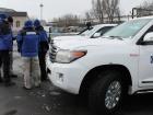 На Донетчине обстреляли автомобиль наблюдателей ОБСЕ
