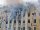 Никак не погасят пожар в здании Минобороны РФ