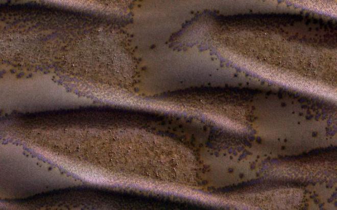NASA показало испарение камней на Марсе - фото