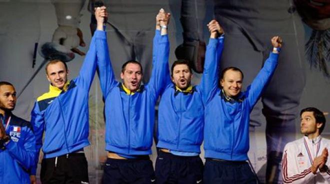 """Украинские шпажисты завоевали """"золото"""" в Париже - фото"""
