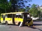 В Мариуполе автобус с бойцами АТО столкнулся с маршруткой [фото]