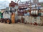 В Мелитополе построили забор из боеприпасов (фото)