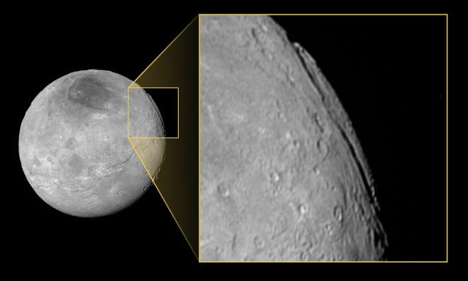 Выявлен самый больший каньон в Солнечной системе - фото