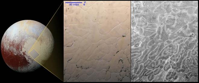 На Плутоне увидели ранее не виданные поверхностные структуры - фото