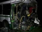 В Донецкой области столкнулись автобус и БТР, есть погибший и пострадавшие