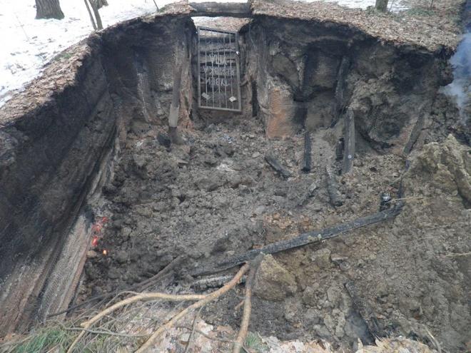 На Львовщине сожгли музей УПА - фото