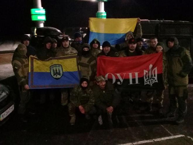 Участники торговой блокады наДонбассе развернули блокпост уНовотроицкого