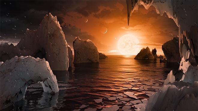 Астрономы отыскали звезду систему с7 планетами земного типа