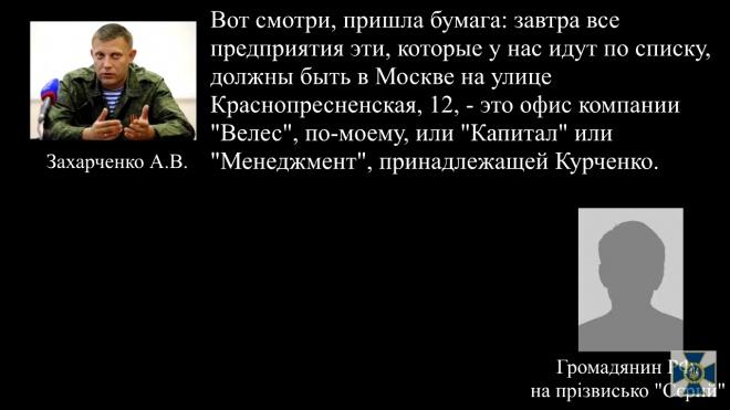 СБУ: Боевики готовятся передать «национализированные» учреждения Донбасса Курченко