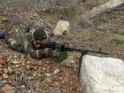 За прошедшие сутки у украинских войск без потерь, уничтожен снайпер боевиков