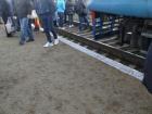 На Киевщине люди перекрыли железную дорогу, требуя увеличить количество вагонов в электричках
