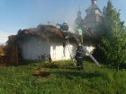 На территории «Запорожской Сечи» произошел пожар