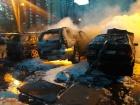 На автостоянке на Данькевича произошел масштабный пожар