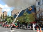 По пожару в бывшем Центральном гастрономе полиция начала уголовное производство