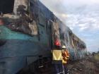 На Закарпатье вспыхнул поезд с пассажирами