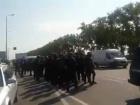 Полиция препятствует колонне ветеранов АТО, что едут в Краковец